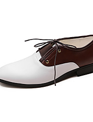 TPU Brown&White Dress Shoes