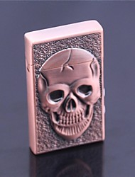 Creative Skull  Windproof Metal Butane Jet Gas Lighter with Money Detector and Light Function