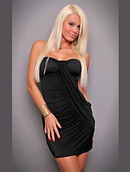 Club Girl Fashion Women Sexy Strapless Ruched Casual Dress Sexy Clubwear Party Mini Dress 4095