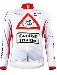 Mailliot/Personnalisée ( Blanc/Rouge Fitness/Sport de détente/Cyclisme -Respirable/Zip étanche/Vestimentaire/Pare-vent/Garder au