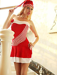 Sexy Close-fitting Dress Red Adult Christmas Woman's Costume
