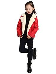 детская мода Европа чистый цвет ПУ куртка