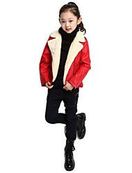 Kindermode europa reine Farbe PU-Jacke
