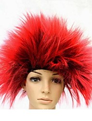 Red Hedgehog Hair Halloween Masquerade  Wig
