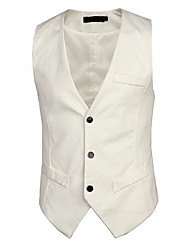 Men's Sleeveless Regular Blazer , Cotton Pure