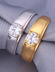 1ct aaa 5mm + cúbicos zircônia anéis de noiva 18k robusto platina banhado a ouro 18k jóias dom selo requintado
