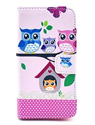 COCO FUN® Lovely Owl Family Pattern PU Leather Case with Film and Stylus for Sony Xperia Z1 mini Compact D5503