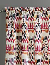 philips jeune - (deux panneaux) gitane contemporain abstrait multicolore floral rideau de style bohème