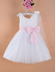 Girl's Organza/Satin Dress , All Seasons Sleeveless