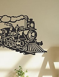 Wall Stickers Wall Decals, Vintage Train Steam Engine Steamer Quotes PVC Wall Stickers