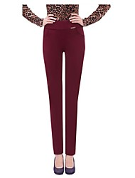 Women's Blue/Red/Black/Green Skinny Pants , Casual/Plus Sizes