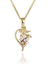 Women's Unique Design Zircon 18K Gold Plating Pendant  Necklace