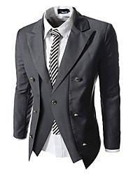x-man Männer Slim Doppel-Reißverschluss-Anzug