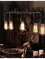 Vintage Metal Water Pipe 5-light Pendant Light
