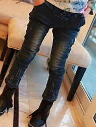 Girl's Solid Jeans,Denim Winter / Spring / Fall