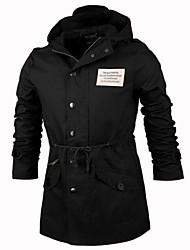 Manlodi Men's Korean Style Slim-Fitting Middle Long Jacket