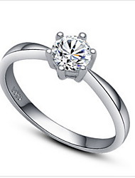 Women's Cubic Fashion Wedding  Zirconia Silver Ring