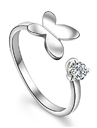Love Story bent wing butterfly ring