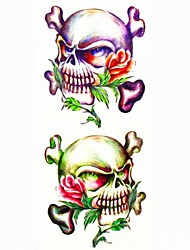 1pc Other Skull Waterproof Tattoo Sample Mold Temporary Tattoos Sticker for Body Art(18.5cm*8.5cm)