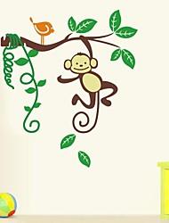 singe de bande dessinée jiubai® sticker mural de décalque de mur