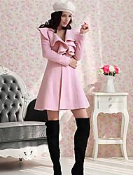 Ответить женская мода рябить твид чистый цвет пальто