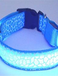 Cat / Dog Collars LED Lights Red / Blue / Yellow Nylon