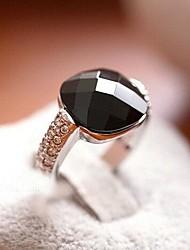 rétro personnalisé cristal de bague en alliage de diamant des femmes