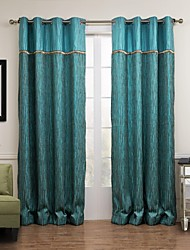 Two Panels Curtain Modern , Stripe Living Room Poly / Cotton Blend Material Curtains Drapes Home Decoration For Window