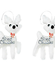 christmas deer forme flocage ornement de décoration, lot de 2, de type aléatoire