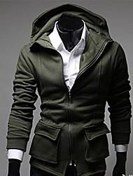 Men's Three Dimensional Pockets Hooded Sweatshirt