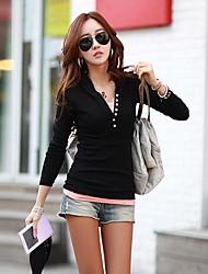 Frauen nehmen Mode Langarm-T-Shirt