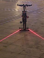 UNGROL Double Red Straight Lines Design 1 Laser Module 6 LED 6 Flash Mode Black Bike Warning Laser Light