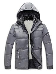 moda casual dos homens engrossar casaco de algodão com capuz jaquetas