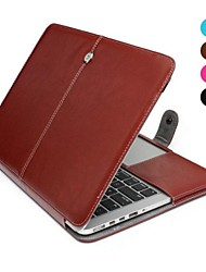 Solid Color PU Leather Full Body Case for MacBook Pro Retina 13""