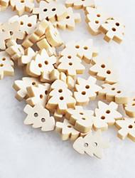 christmas tree album scraft coudre des boutons en bois de bricolage (10 pièces)