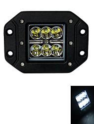 18w тип / ф пятно 6000k 6-Кри XB-d привело квадратный работа света бар DIY, используемых в автомобиле / лодки / авто фары (расширить тип)