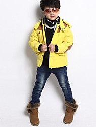 Boy's Cotton Blend Jacket & Coat,Winter / Spring / Fall Solid