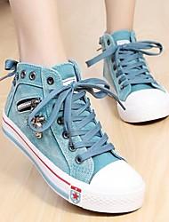 Comfort Shoes tacco punta rotonda e piatta scarpe da ginnastica di moda tela scarpe più colori delle donne disponibili