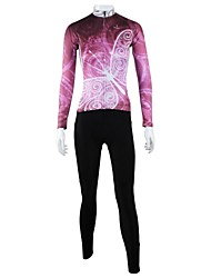 PALADIN® Cycling Jersey with Tights Women's Long Sleeve Bike Breathable / Quick Dry / Windproof / Back PocketJersey + Pants/Jersey+Tights