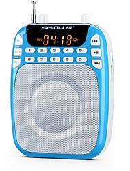 Loudspeaker Voice Amplifier Megaphone USB TF Support AUX MP3 FM Voice Recording Large Power SHIDU S328