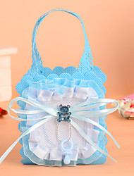 Lace Bowknot with Cristal Bear Favor Bag-Set of 12(More Colors)
