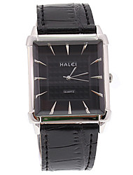 v6 lujo genuino cuero negro esfera de color negro original del cuarzo reloj de los hombres