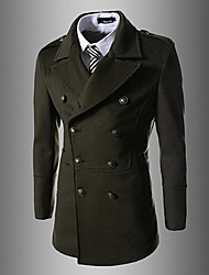 wsgyj Männerdoppel Brest schmal geschnittenen Mantel