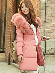 Women's Fashion Slim Feather Coat