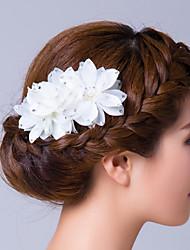 Mulheres Zircônia Cubica Tecido Capacete-Casamento Ocasião Especial Flores Alfinete de Cabelo