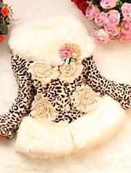 Girl's Fashionable Personality Faux Fur Fleece Lining Warm Coat