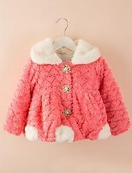 moda flores palhaço doce lapela da pele do falso casaco quente da menina