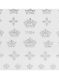 5PCS Silver Crown Style TY-034 Nail Art Stickers
