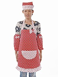 Red Dot Pattern Cotton Fabric  Apron,Set of 3