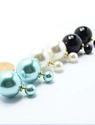 модные сторону жемчужные серьги женские (больше цветов)